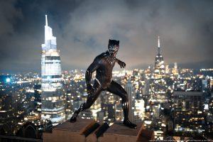 Nova figura do Pantera Negra no Madame Tussauds de Nova Iorque